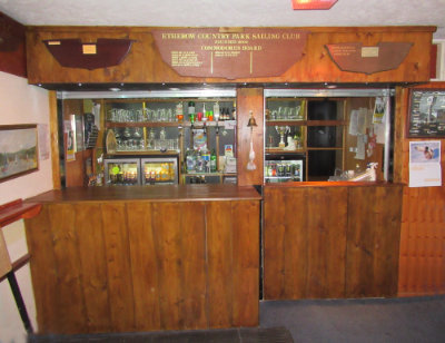 The new bar in the clubhouse